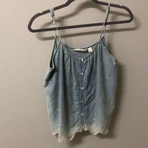Lauren Conrad Jean Crop Top
